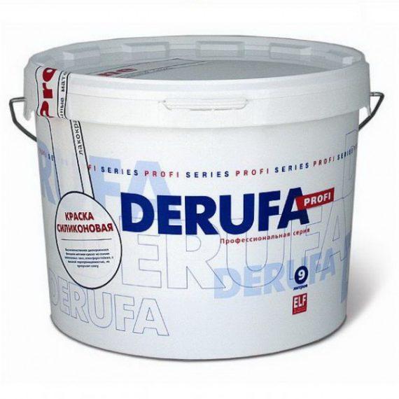 Дисперсионная краска DERUFA для стен и потолков, укрывающая в один слой, глубокоматовая, белоснежная.