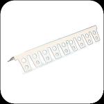 Профиль арочный универсальный ПВХ 33×33